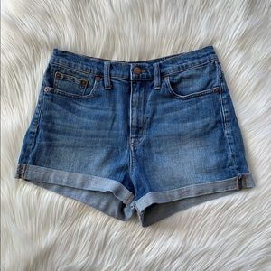 Madewell High Rise Shorts in Denver Wash